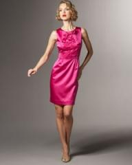 kate spade amelia satin bow dress at Neiman Marcus