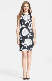 kate spade new york   x27 aires rose abbey  x27  print stretch cotton sheath dress   Nordstrom at Nordstrom