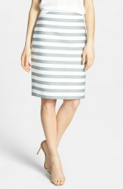 kate spade new york  marit  stripe cotton blend pencil skirt at Nordstrom
