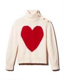 kate spade new york Heart Print Turtleneck Sweater Women - Bloomingdale s at Bloomingdales