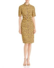 kate spade new york Sunny Bloom Ruched-Front Shirt Dress Women - Bloomingdale s at Bloomingdales