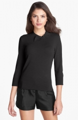 kate spade new york abree wool andamp cashmere sweater in black at Nordstrom