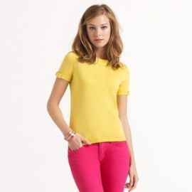 kate spade new york and39carolineand39 bow sleeve sweater in yellow at Nordstrom
