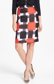 kate spade new york and39jordanand39 cotton andamp silk skirt at Nordstrom