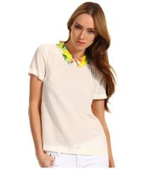 kate spade new york and39tessaand39 silk top in beige at Nordstrom
