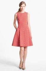 kate spade new york cory dot jacquard fit andamp flare dress at Nordstrom