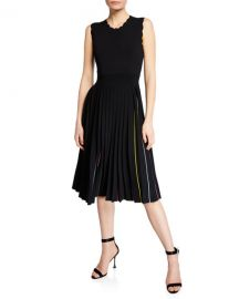 kate spade new york crewneck sleeveless pleated sweater dress at Neiman Marcus