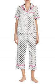 kate spade new york cropped sateen pajamas at Nordstrom
