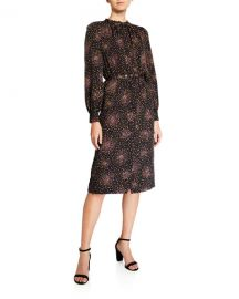 kate spade new york disco dots belted ruffle shirtdress at Neiman Marcus