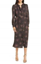 kate spade new york disco dots long sleeve midi dress   Nordstrom at Nordstrom