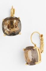 kate spade new york drop earrings in black diamond at Nordstrom