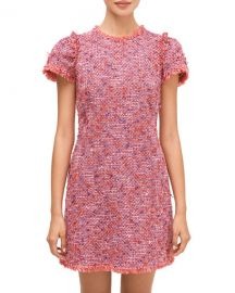 kate spade new york flutter sleeve tweed dress at Neiman Marcus