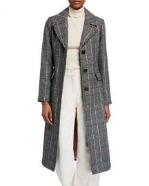 kate spade new york glen plaid belted trench coat at Neiman Marcus