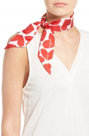 kate spade new york heart to heart skinny silk scarf at Nordstrom