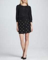 kate spade new york jolette three-quarter sleeve blouse and harper skirt at Neiman Marcus