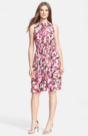 kate spade new york rose print woven a-line dress at Nordstrom
