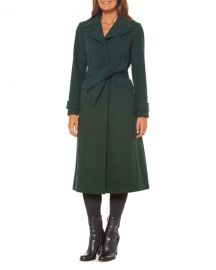 kate spade new york single-breasted maxi wool-blend coat at Neiman Marcus