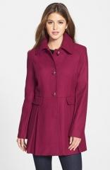 kensie Skirted Wool Blend Coat at Nordstrom