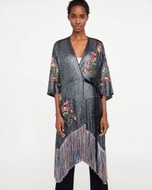 kimono dress at Zara