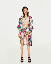 kimono with asymmetric hem at Zara