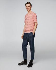 knit polo shirt at Zara