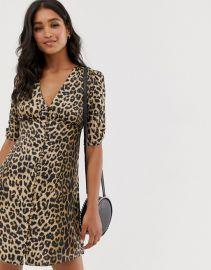 kota leopard print mini tea dress at ASOS