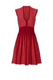 leeveless Knit Fit-and-Flare Dress by Emporio Armani at Rent The Runway