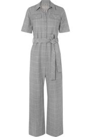 lela rose CHECKED CADY JUMPSUIT at Net A Porter