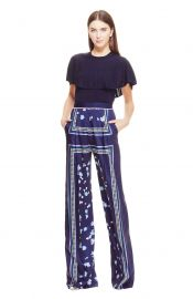lela rose Dotted Floral Handkerchief Print High Waist Pant at Orchard Mile
