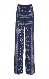 lela rose Printed Satin Wide-Leg Pants at Moda Operandi