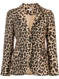 leopard print fitted blazer at Farfetch