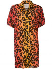 leopard print shirt dress at Farfetch