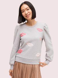 lips sweatshirt at Kate Spade