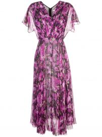long floral print dress at Farfetch