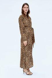 long animal print dress at Zara