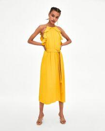 long jacquard dress at Zara
