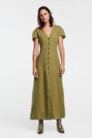 long linen dress at Zara