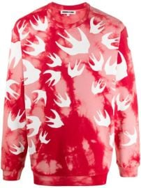 long sleeve tie-dye sweater at Farfetch