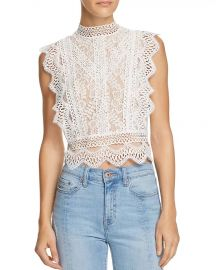 lucy paris Abigail Lace Cropped Top at Bloomingdales