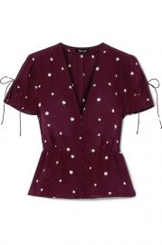 madewell Belle printed silk top at Net A Porter