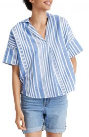 madewell Courier Stripe Button Back Shirt at Nordstrom