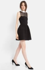 maje Eponime Stretch Fit andamp Flare Dress at Nordstrom