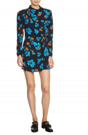 maje Floral Faux Wrap Dress at Nordstrom