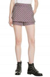 maje Jacquard Skirt Front Shorts at Nordstrom