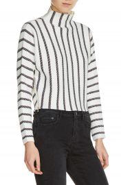 maje Mesh Stripe Crop Sweater at Nordstrom