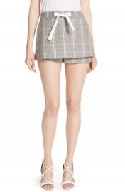 maje Plaid Skirt Front Shorts   Nordstrom at Nordstrom