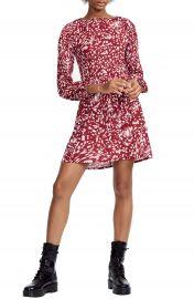 maje Pleated Bodice Mini Dress at Nordstrom