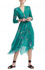 maje Rayema Floral Handkerchief Hem Midi Dress   Nordstrom at Nordstrom