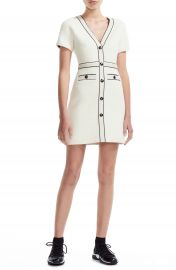 maje Roppy Cotton Tweed Short Sleeve Minidress   Nordstrom at Nordstrom