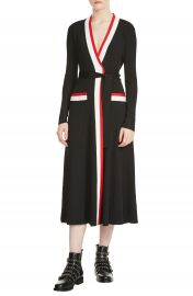 maje Rosiana Wrap Midi Dress at Nordstrom